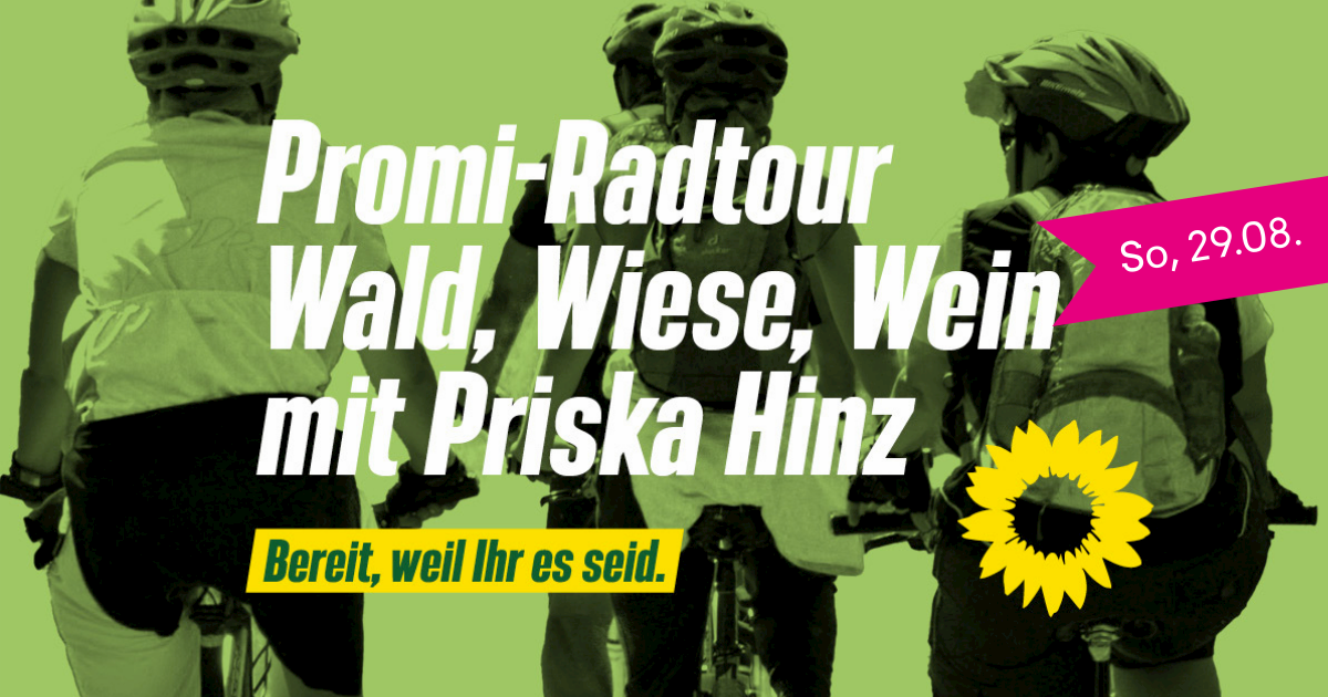 Wald, Wiese und Wein – GRÜNE Promi-Radtour im Main-Taunus-Kreis